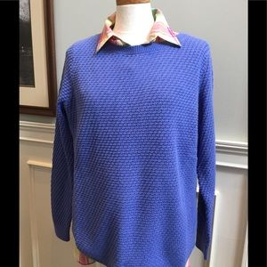 Lands End periwinkle blue tunic sweater